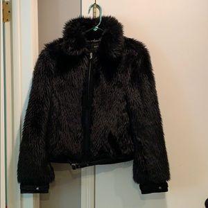 Jackets & Blazers - Faux fur cropped jacket